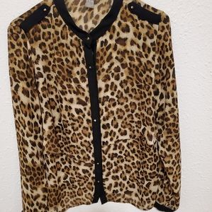 Forever 21 Animal Print Top